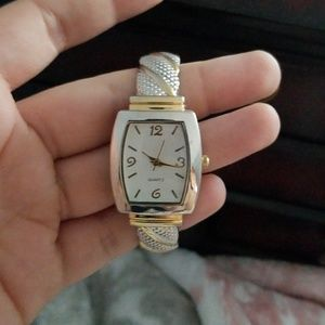 Gold and silver watch